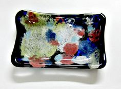 Fused Glass Soap Dish or Trinket Dish My Flower by Chris1 on Etsy, $28.00