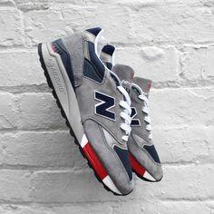 New Balance '998' - Grey / Navy / Red - M998GNR - £139.99