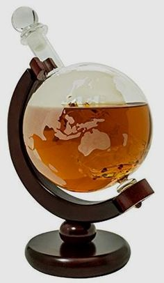Glass Globe Whiskey Decanter        >>>>> On SALE  http://amzn.to/2bXkcyb