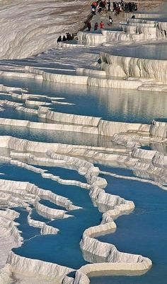 Even in winter time ‪#‎Pamukkale‬ is very popular place to visit!