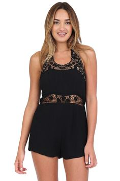 Black Halter Romper at Blush Boutique Miami - ShopBlush.com : Blush Boutique Miami – ShopBlush.com