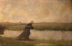 Jozef Israels (1824-1911) oil paint on oak panel.