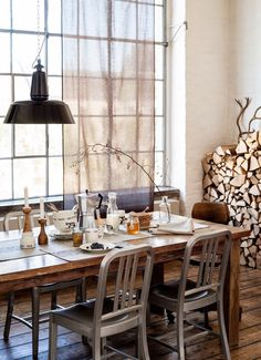 Hey, honey, let's stack all of our wood in the dining room. ;-)