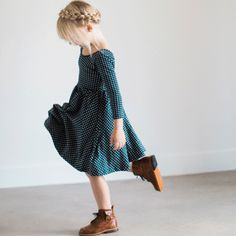 THE BALLET DRESS IN NAVY SQUARE - Alice + Ames