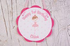 Ballerina Door Sign Birthday Party