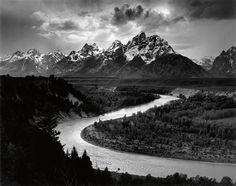 Ansel Adams, Grand Tetons and Snake River on ArtStack #ansel-adams #art