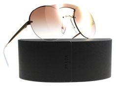 ceea7aadc New Prada Sunglasses Women SPR 65T Gold 7OE-AD2 SPR65TS 36mm, Antique Gold  Oculos