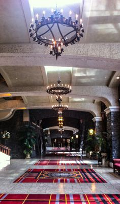 Lobby of the Fairmont Banff Springs Hotel