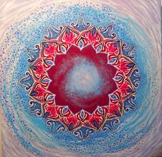 Creation Power  Mandala  Original painting by ZaharaMandala, $80.00
