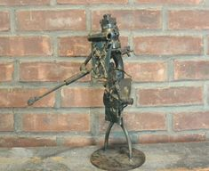 Items similar to Brutalist Moderist Welded Found Art Sculpture; Don Quixote; Artist Signed Jacobsen on Etsy Sculpture Clay, Abstract Sculpture, Sculptures, Sculpture Ideas, Crusader Knight, Don Quixote, Found Art, Ivory Coast, Brutalist
