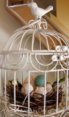 Bird cage craft ideas porches Ideas, The bird cage is both a property for your chickens and an ornamental tool. You can select anything you need among the bird cage types and get a great deal more special images. Country Decor, Farmhouse Decor, Birdcage Planter, Birdcage Decor, Porches, Diy Bird Feeder, Vintage Birds, Watercolor Bird, Bird Prints