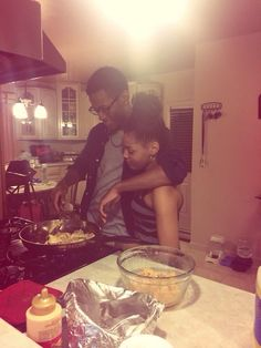 It's sexy when you have man that cooks for you from time to time but it's also so cute when your cooking together with your man