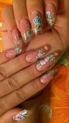 Monik Nails #nails #nailart #nailpolish #unghie #rose