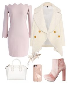 """""""..."""" by jamiekane ❤ liked on Polyvore featuring Givenchy, Chicwish, Burberry, Charlotte Russe, Rebecca Minkoff and rosegold"""