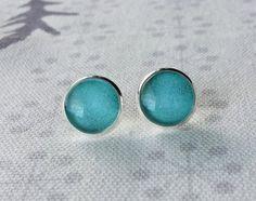 Mother gift Vintage Blue Earrings Earrings Stud by LukasAndMae