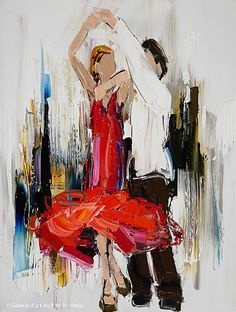 Kimberly Kiel, 'Jump, Jive and Swing', x Texture Painting On Canvas, Palette Knife Painting, Canvas Art, Dance Paintings, Easy Paintings, Landscape Paintings, Art Gallery, Boat Art, Figure Painting