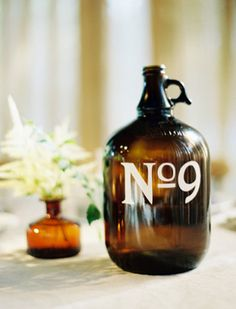 Amber bottle table number | see more on burnettsboards.co...