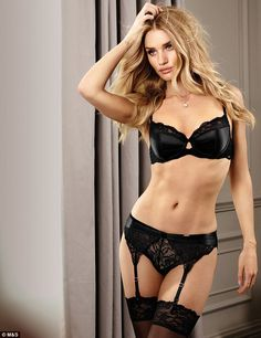 Rosie Huntington-Whiteley has unveiled and modelled her new range of Valentine's Day lingerie for M&S