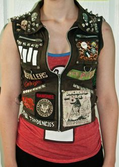 DIY Women's Punk Vest Small by WastedYouthDIY on Etsy, $100.00