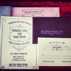 #country #cowboy wedding #invitations