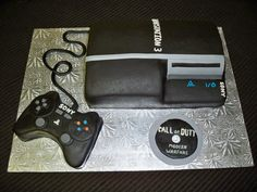 Playstation Cake for a friend's husband's birthday