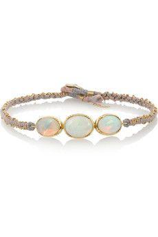 Brooke Gregson 18-karat gold opal bracelet | NET-A-PORTER