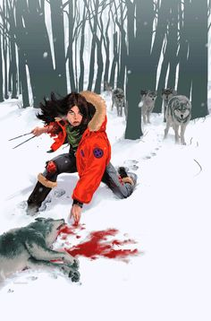 X-23:  odds are she's not the one that killed the wolf...whoever did should probably be running.
