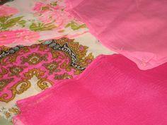 Vintage Lot 4 Pink Hue Midcentury Sheer/Georgette by JewelsThings, $12.00