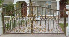 WG01- Double Wrought Iron Gate (WG01) - China wrought iron gates, wrought iron products
