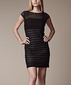 Love this Black Wave Cap-Sleeve Dress by Julia Jordan on #zulily! #zulilyfinds