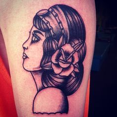 Gypsy girl head (Done by tattoo artist Mark Helstrom from Scallywags in MA)