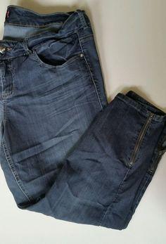 Women's TORRID Denim Stretch Crop CAPRI JEANS Size 20 Plus Blue #Torrid #CapriCropped