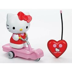 Hello Kitty Remote Control Scooter by Hello Kitty. $26.99. Our Hello Kitty Remote Control Scooter is a must have for Hello Kitty fans! Girls will love to play with this adorable Hello Kitty Scooter.Hello Kitty is a cheerful and happy girl with a heart of gold. Kitty can bake delicious cookies, but she loves Mama's apple pie even more. Her best friend is her twin sister Mimmy. They have lots of friends at school with whom they share many adventures. Her hobbies include t...