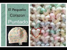 PUNTADA El Pequeno Corazon en Telar - YouTube