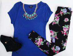 Blue & floral