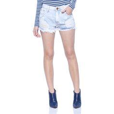 Mini Shorts Solto Cintura Alta - Damyller