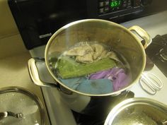 Norwex Maintenance - to deep clean your norwex products boil them and add a little UPP (Norwex laundry soap).