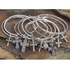 Eight Crosses Stacking Bracelets - Western Wear, Equestrian Inspired Clothing, Jewelry, Home Décor, Gifts