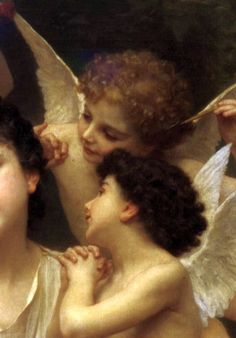 ♔ 'Dream of Spring' 1901 ~ by William-Adolphe  Bouguereau (detail)