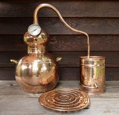 10 liter Copper Alembic Still: Handcrafted in Southern Europe and a traditional tool used for 100's of years to make hydrosols, also known as floral waters, and essential oils. Rosewater and witch hazel are the two floral waters most people are familiar with. Fresh flowers from your garden (or farmers' market) can be used or dried botanicals including spices. $425