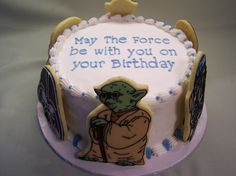 Yoda/Vader/R2D2 birthday cake.