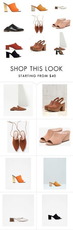 """mules"" by almudena-inwonderland on Polyvore featuring moda, Massimo Dutti, Bershka, Uterqüe, Zara y MANGO"