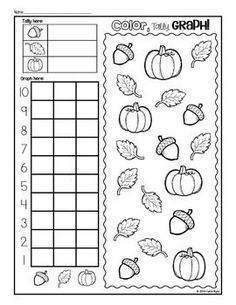 PRINT AND GO! APPLES, PUMPKINS, & LEAVES - Fall Kindergarten practice pages to save your ink and time! Great for morning work, homework, or centers. Use these all season long from September through November! Happy Teaching! $: