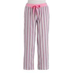 Lord & Taylor Striped Cotton Capri Pajama Pants ($15) ❤ liked on Polyvore featuring intimates, sleepwear, pajamas, pijamas, striped pjs, cotton pjs, cotton pyjamas, cotton sleepwear and cotton sleep wear