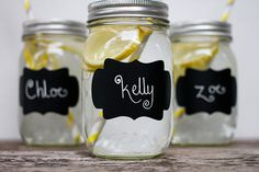 12 Blank Fancy Chalkboard Labels KELLY 2 x 3 for Mason Jars Wedding Favors Party Drink Cup Label Reception Centerpiece Barn Outdoor Summer
