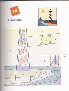 Free Lighthouse Quilt Block Patterns : 1000+ images about Paper piecing on Pinterest Doctor who quilt, Paper piecing and Doctor who