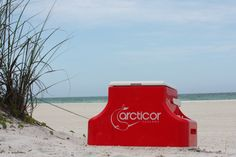 To the beach!  Keeping your beverages cold from start finish.
