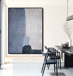 Large Abstract Art Oil Painting Canvas Art, Contemporary Art Hand Painted Abstract Painting, Black Blue Grey. by FabuArtDecor on Etsy https://www.etsy.com/listing/228839512/large-abstract-art-oil-painting-canvas Be Sure To Visit: http://universalthroughput.imobileappsys.com/