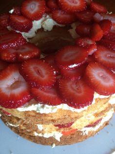 Summertime angel cake