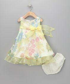 Yellow Floral Dress &amp Diaper Cover  Infant $2727 cakepins.com